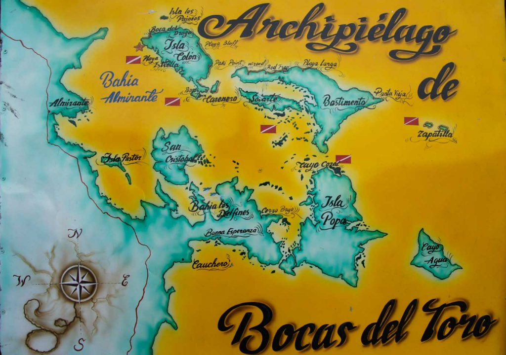 BOCAS DEL TORO ISLANDS MAP