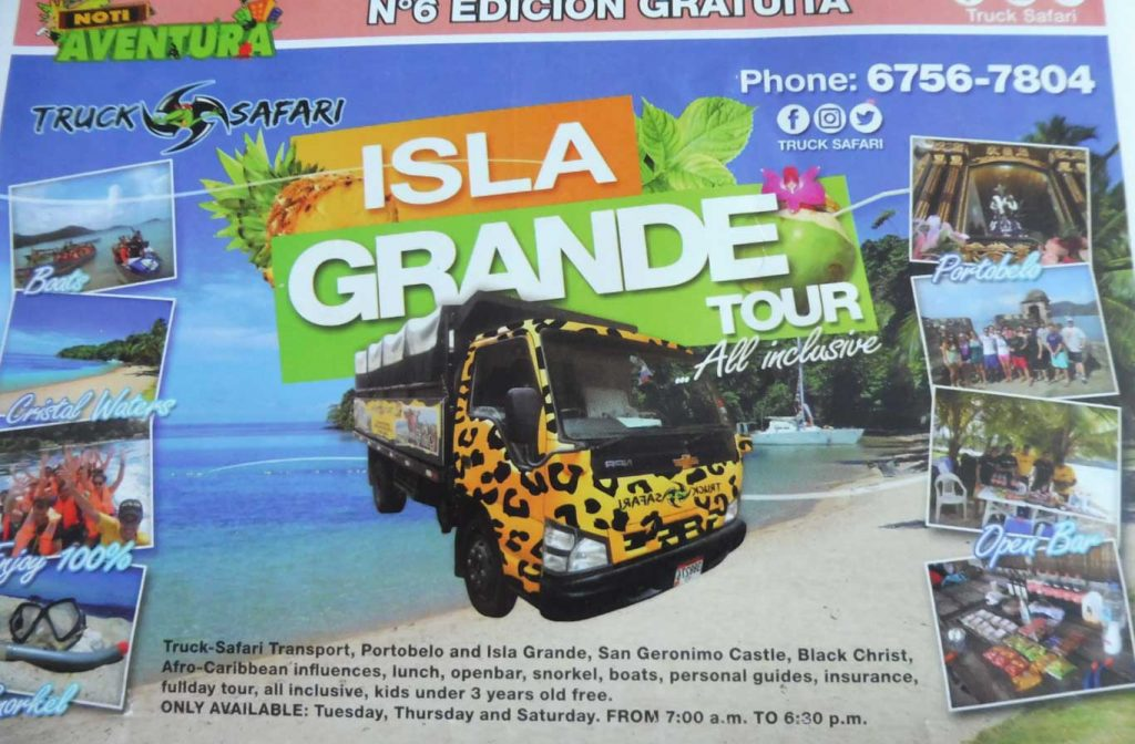 EXCURSIONS PANAMA CITY ISLA GRANDE