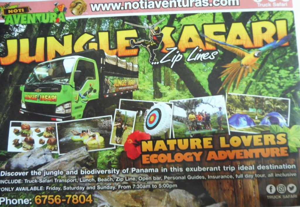 EXCURSIONS PANAMA CITY JUNGLE