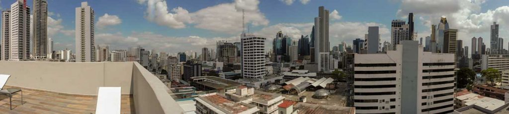 HOTEL CLARION VICTORIA PANORAMIC VIEW FROM OUR CHEAP HOTEL IN PANAMA CITY