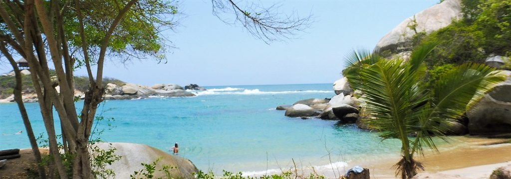 beautiful beach on tayrona park in our one day tour