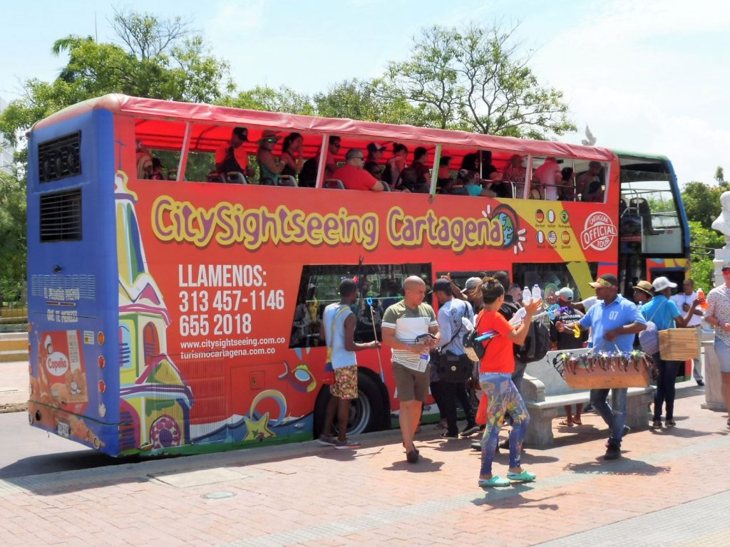 cartagena in 1 day what to see TAKE tourist bus