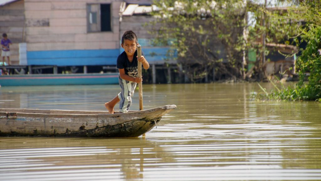 A child in the cienaga grande