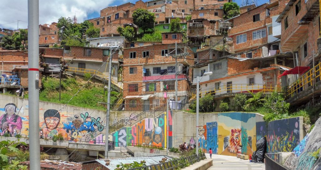 on the heights of Medellin is Comuna 13