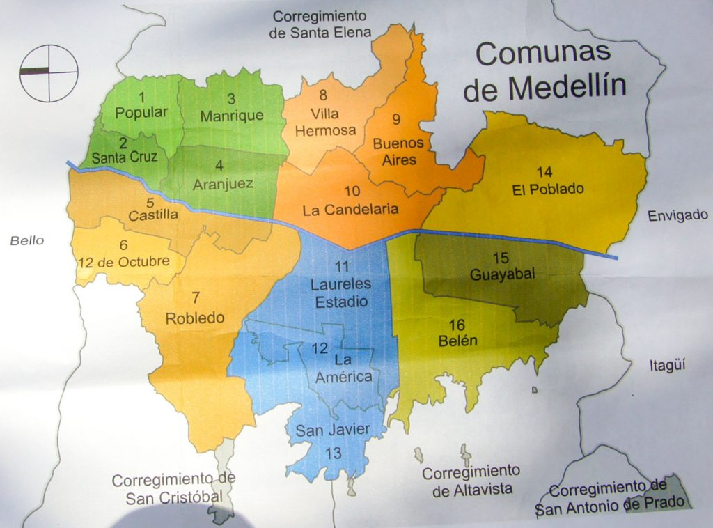 Where is Comuna 13 in Medellin city