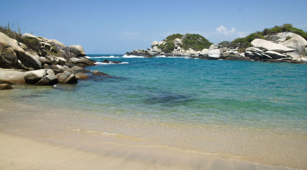 Piscina beach in our one day tour in Tayrona park