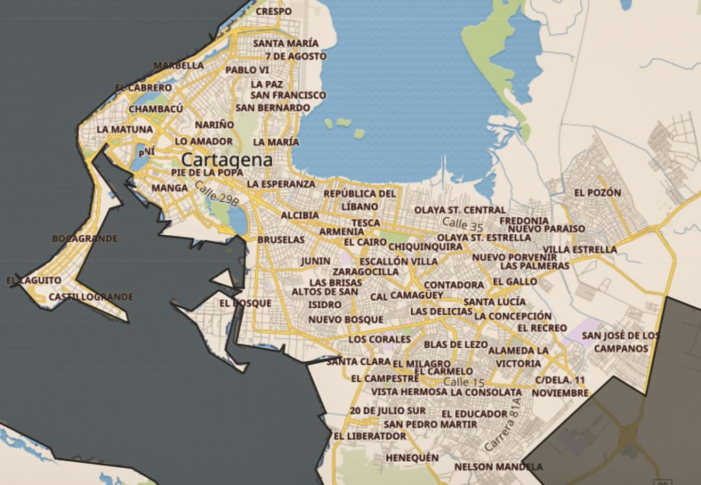 NEIGHBORHOOD AND DISTRICTS IN CARTAGENA