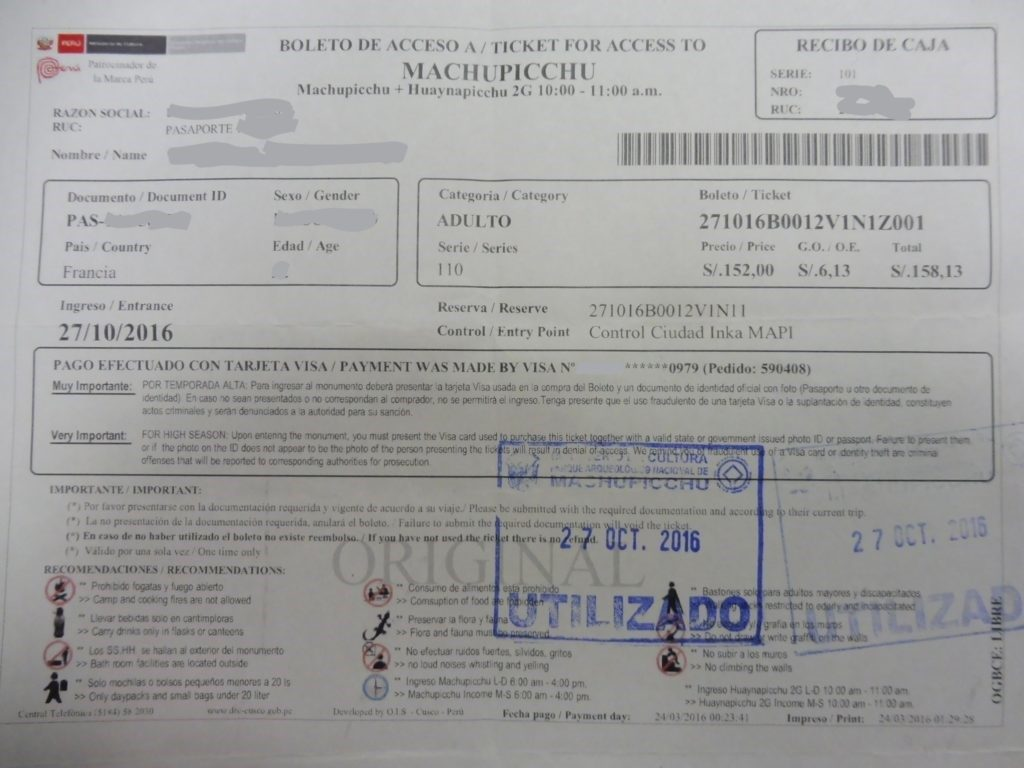Confirmation of booking admission how to get to Machu Picchu from cusco and hot to visit machu picchu