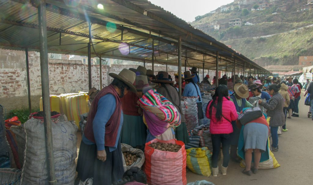 Food market in Cuzco for my visit of Cusco in 1 day