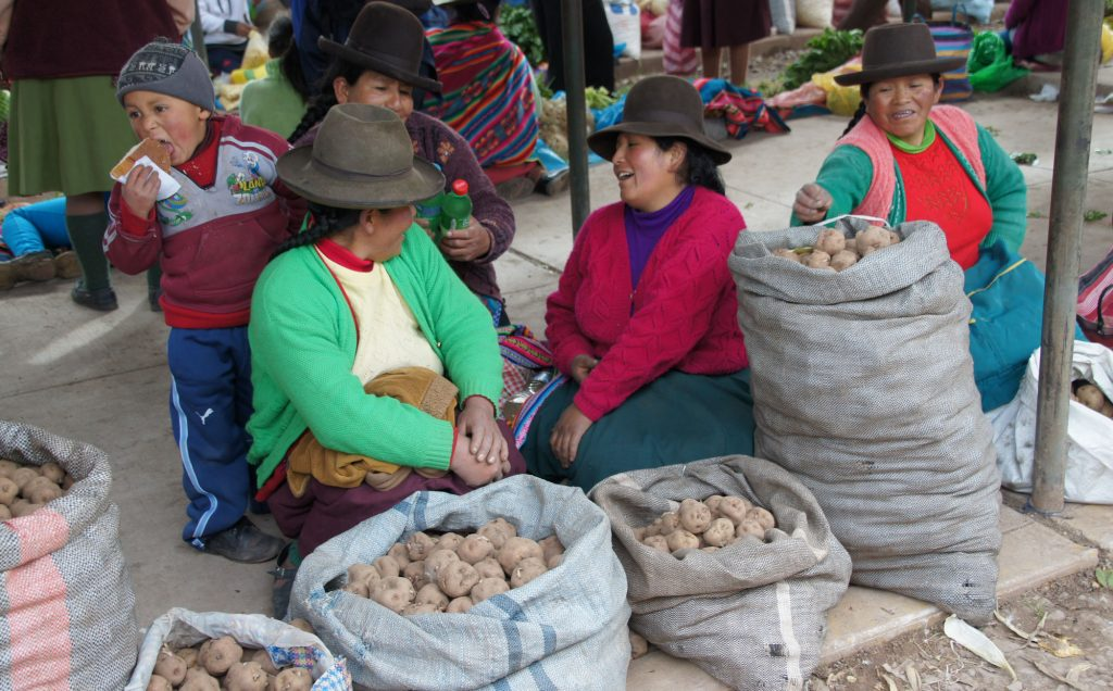A local market in Cuzco