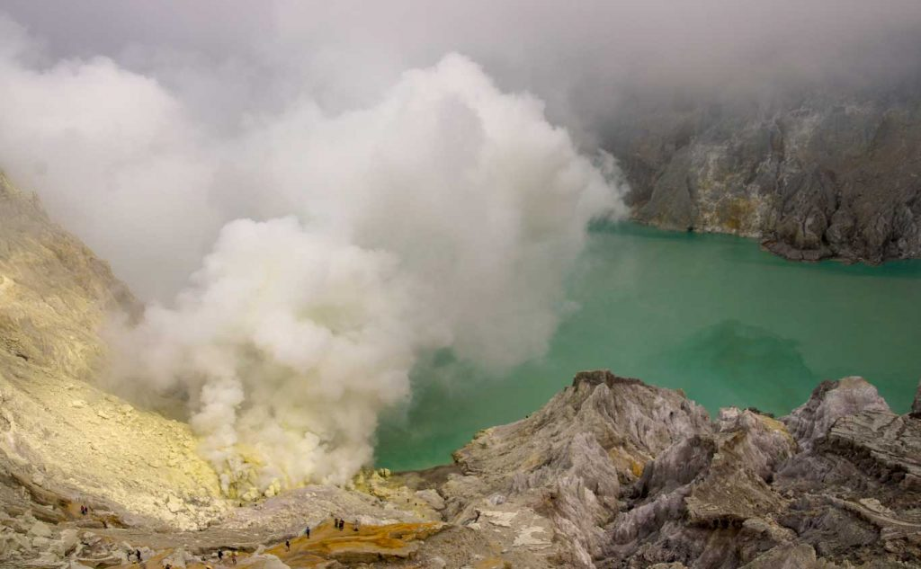 Kawah Ijen volcano in Java Indonesia