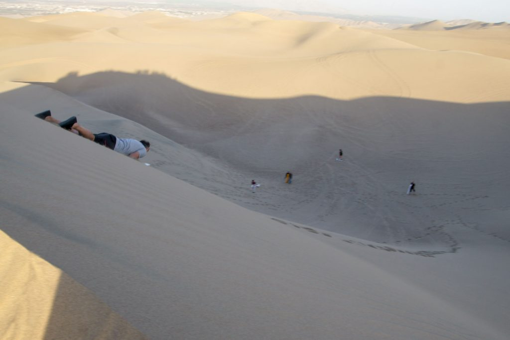 SURFING IN HUACACHINA DESERT