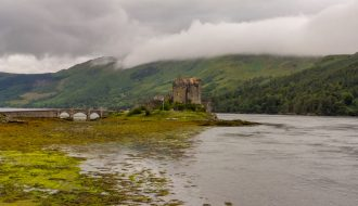 road trip in Scotland Near Isle of Skye Castle Donan Eilean