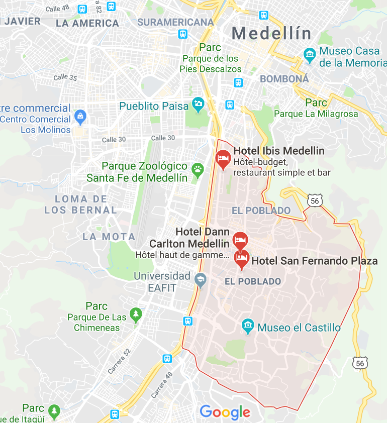 Best neighborhood in Medellin EL POBLADO district