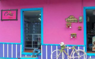 What to see in Filandia in the coffee region of Colombia the colorful facade of houses