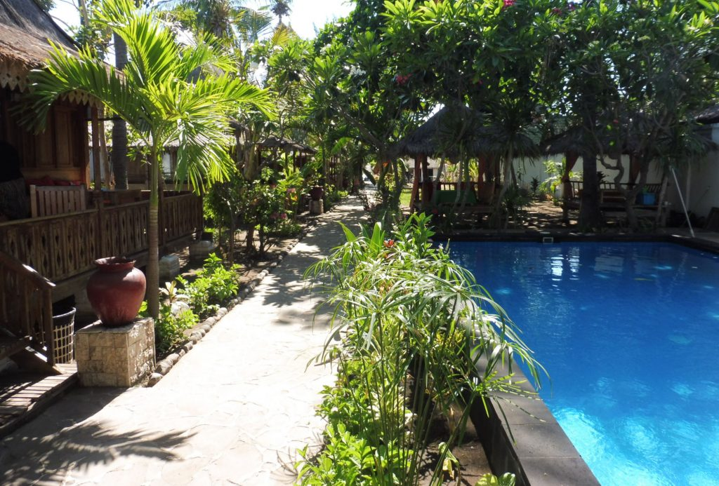 Cheap hotel on Gili Air island
