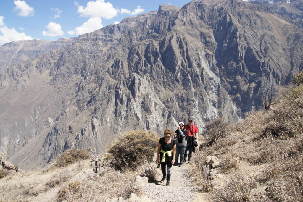 Canyon del Colca our hike in Salto del cura in the hearth of Colca Canyon