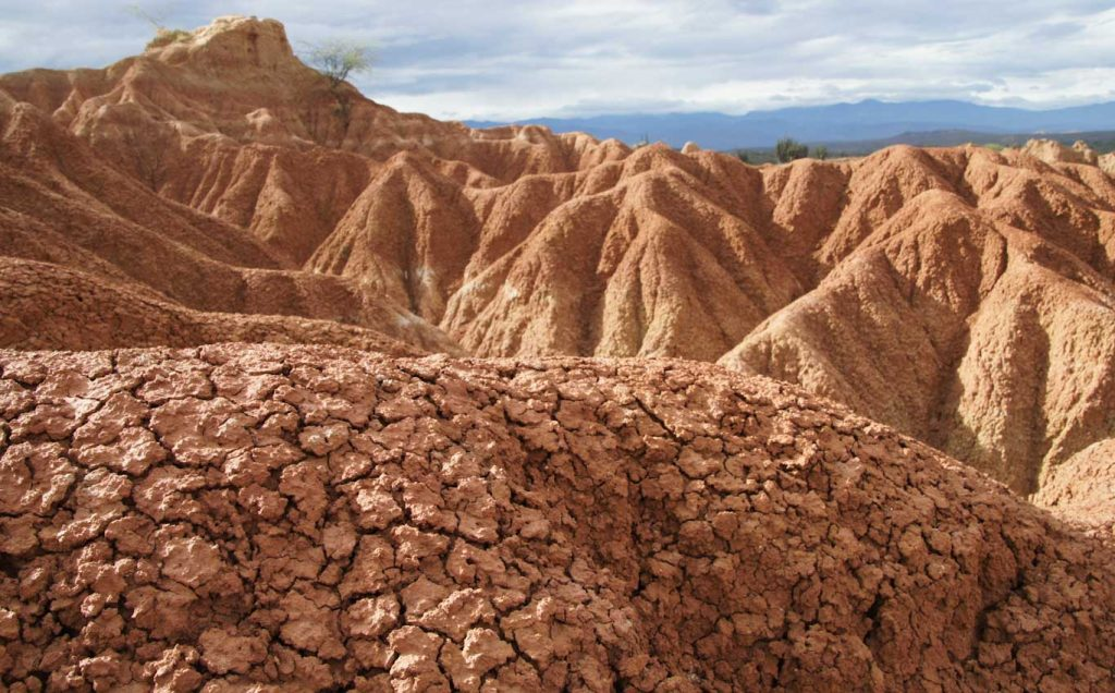 Red desert in our Tatacoa Tour in one day