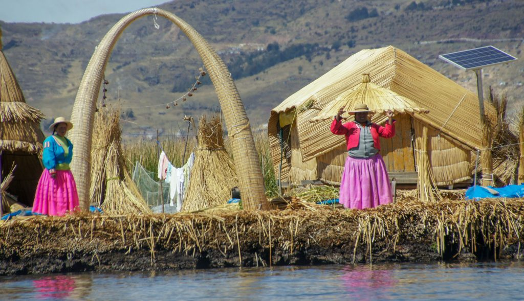 My Lake Titicaca tour - floating islands of Uros and Amantani island - our arrival on uros islands