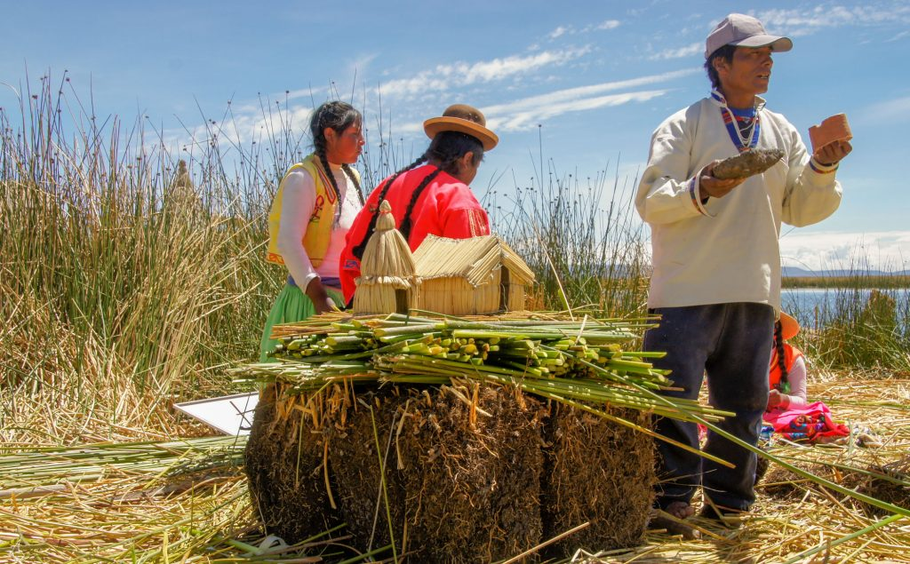 UROS FLOATING ISLAND IN TITICACA LAKE