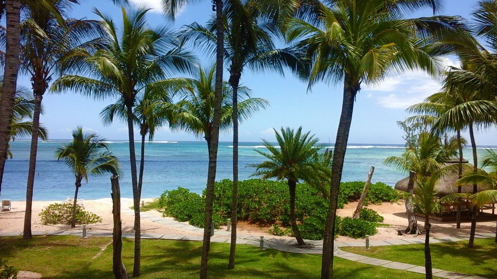 View of our HOTEL room in South coast Mauritius in the Morne area