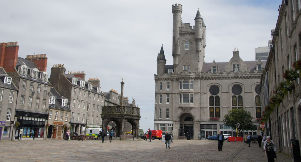 center of the city of Aberdeen