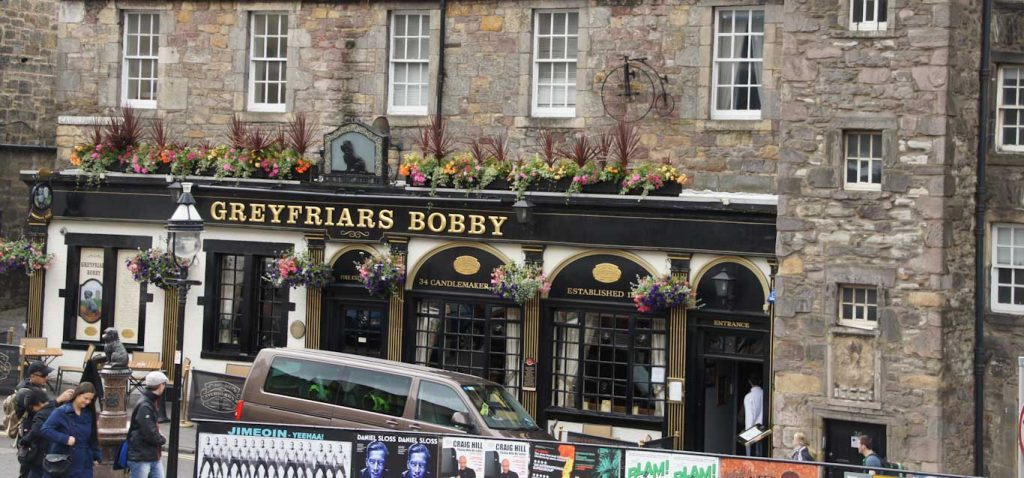 Greyfriars Bobby Bar which is a very popular old and traditional pub in Edinburgh