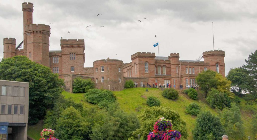 Highlands in the city of Inverness the Castle