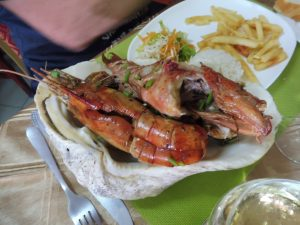 Lobsters to taste in the best restaurant in Mauritius North coast