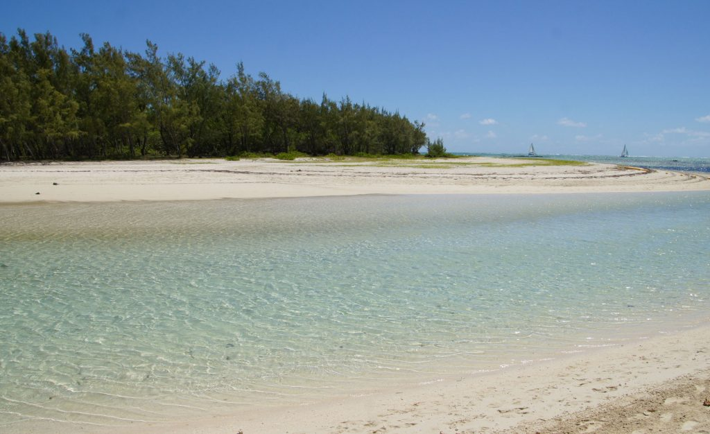 One of the Best Beaches East Coast Mauritius the beautiful beach of The Ile aux Cerfs