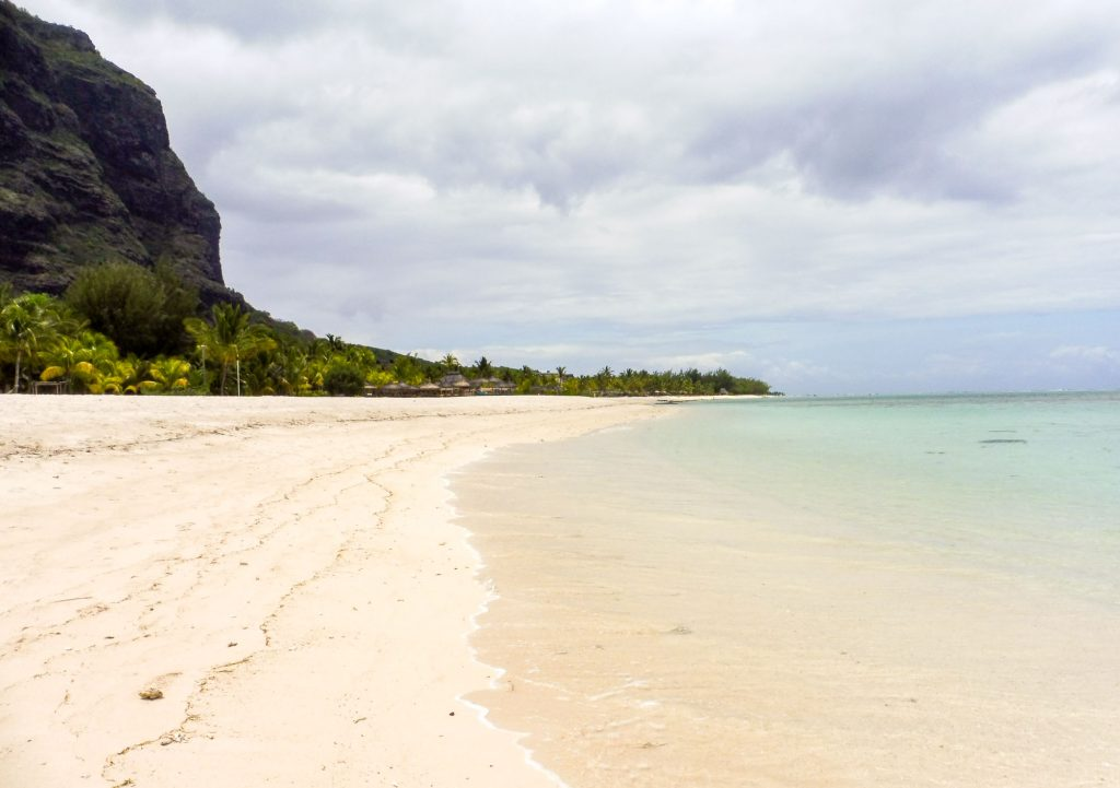 Morne praban one of the most beautiful beaches of Mauritius