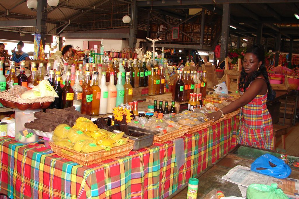Discovery of the Center of Martinique Fort de France market