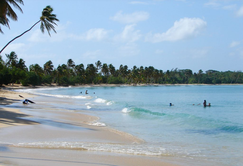 South coast in Martinique with most beautiful beaches